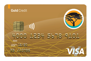 FNB Gold Credit Card Front Part